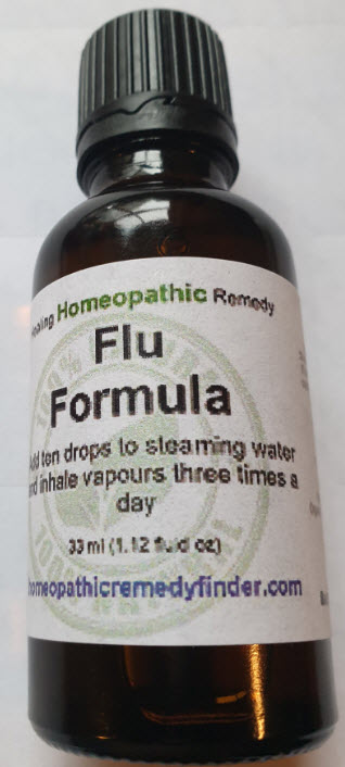 homeopathic flu formula for treating all flu including coronavirus