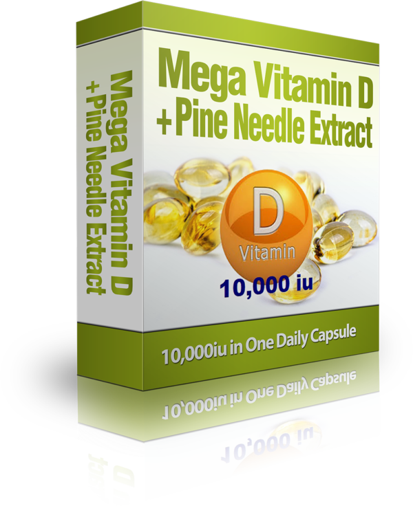 Vitamin D 10,000 iu + Pine Needle Extract with 4 Homeopathic Remedies