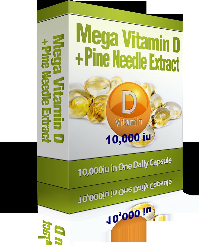Mega Vitamin D + Pine Needle Extract + 4 Homeopathic Treatments*